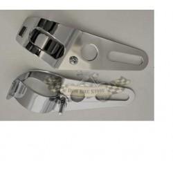 Faro posteriore Drilled Led, cassa cromata, lente Rossa