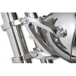 Faro posteriore Drilled Led, cassa alluminio, lente Trasparente